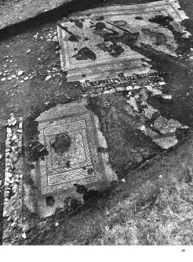 Image of the mosaics at Stanwick in CA 97