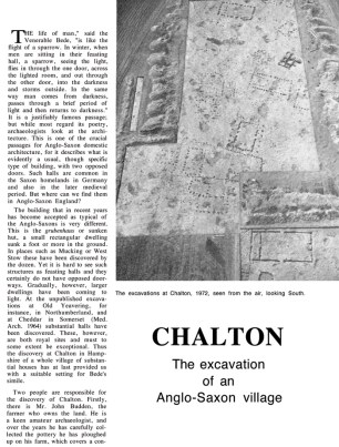 First page of article on Chalton in CA 37