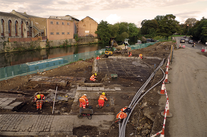 Excavations taking place at the Milk Street Baths and Laundry