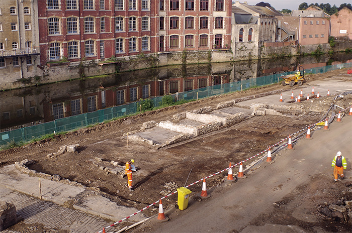 Excavation of the southern end of Avon Street