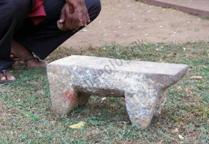 Figure 7. Stone bench/quern retrieved earlier from the wreck site