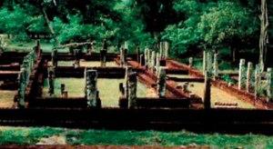 The 12th century hospital at Polonnaruwa