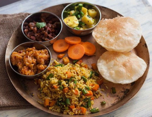 small resolution of everyday meal plate chana kanghou sana thongpa alu kangmet chak angouba tan ngang