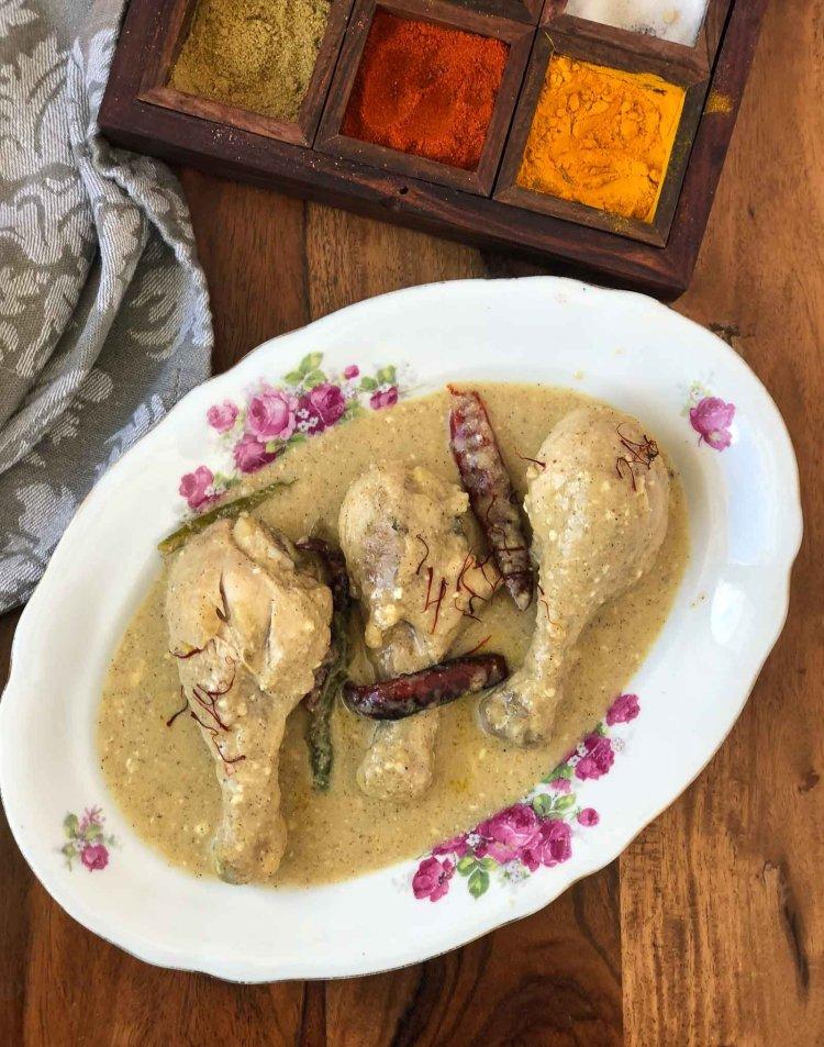 Bengali Style Chicken Rezala Recipe - Chicken Korma Recipe
