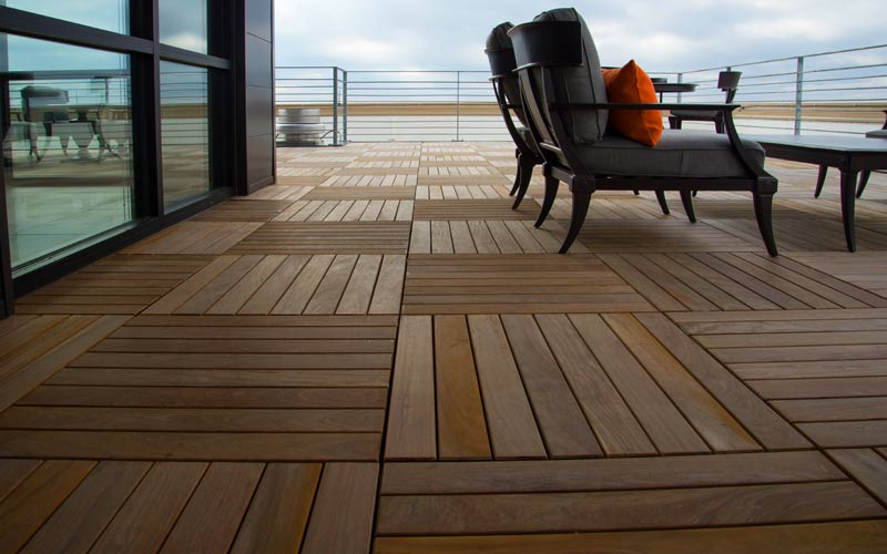 waterproof area under an elevated wood deck