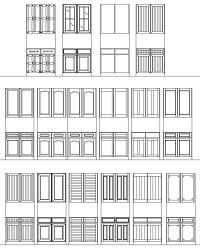 AutoCAD Doors Blocks Library - Exterior Door AutoCAD ...