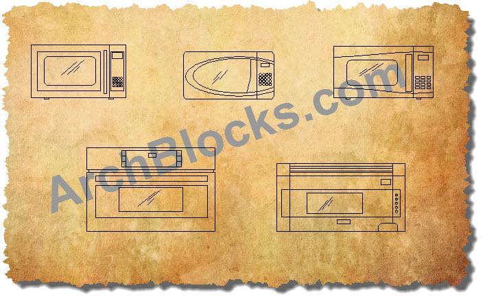 kitchen hood insert countertop cleaner cad appliance blocks | autocad symbols ...