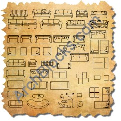 Card Table And Chair Set Swivel Chairs For Sale Cad Furniture Blocks   Autocad Symbols Of