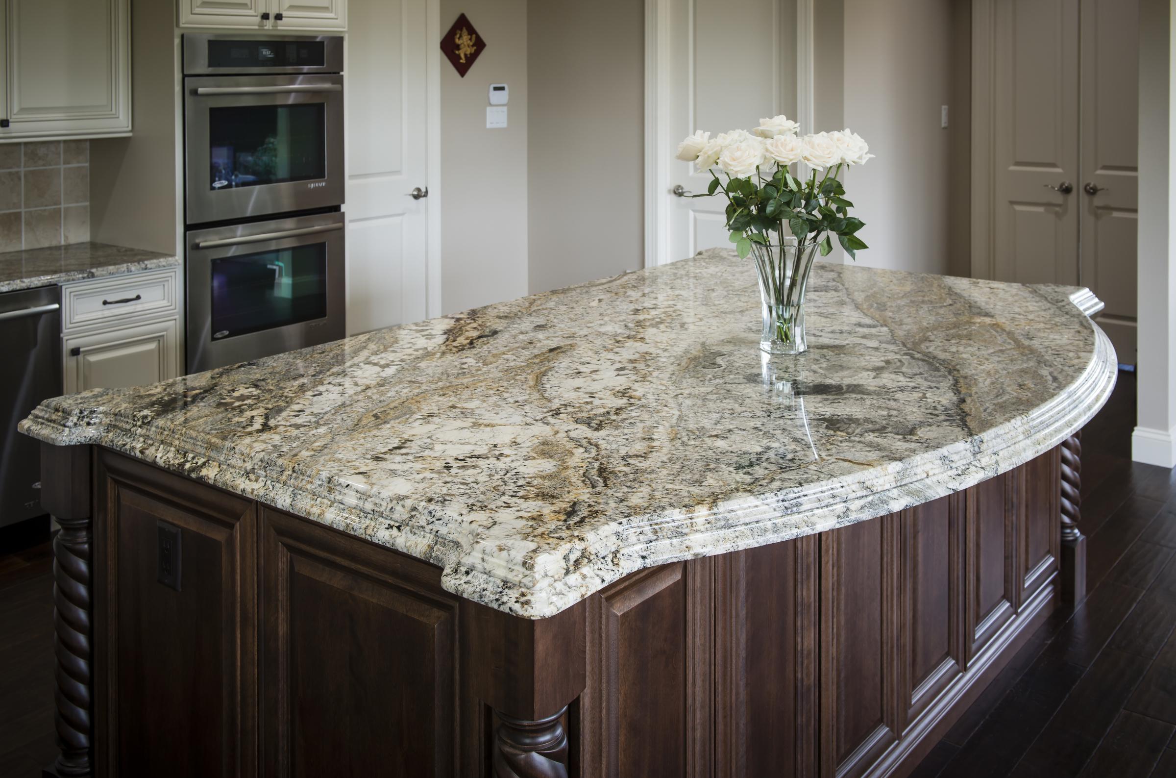 Granite Countertop With White