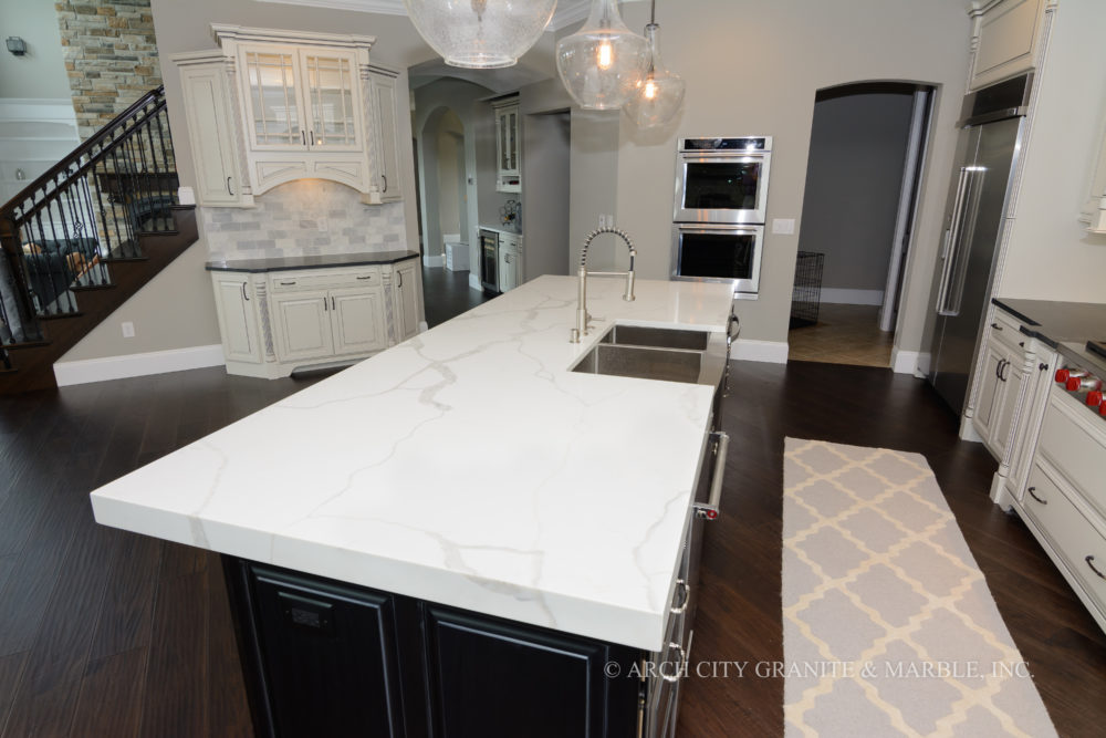 kitchen countertops quartz cheap trash can for kitchens and bathrooms in st louis arch your or o fallon area home