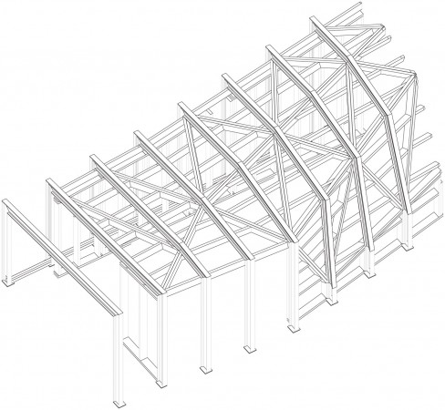 steel structure axo