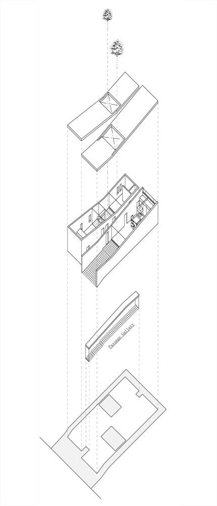 Sz House - Miyahara Architect Office exploded axo