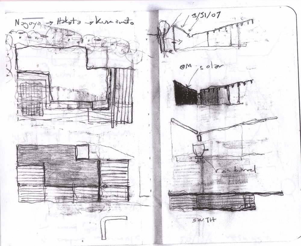 B House - Anderson Anderson Architecture - Nishiyama Architects sketches