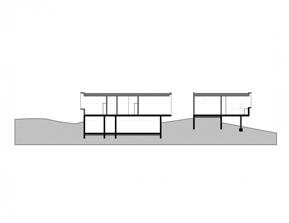Los Molles House - Oltmann Ahlers W. - Oltmann Ahlers G. - dRN Arquitectos section A