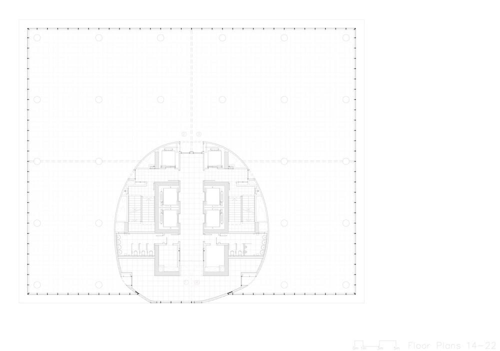 planta torre oficinas-1 office tower floor plan 2