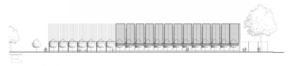 CMA_NDG_05_Elevation Courtesy of Chevalier Morales Architectes