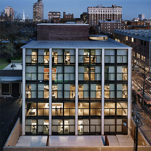Exterior at night ©Pfeiffer Partners and Levin & Associates Architects
