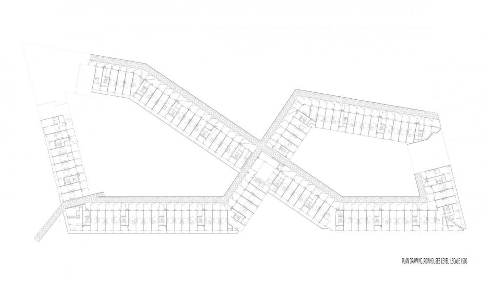 plan_rowhouses_level1 Plan rowhouses level 1