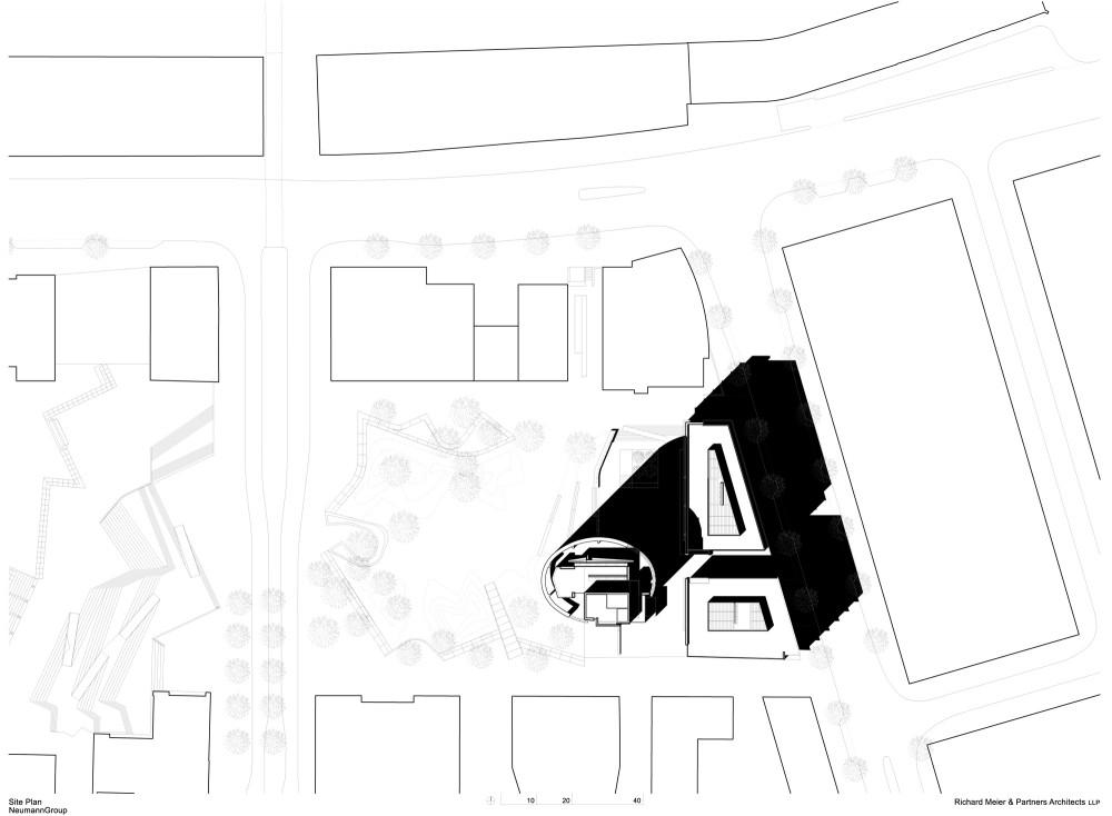 International Coffee Plaza / Richard Meier & Partners (15) plan 01