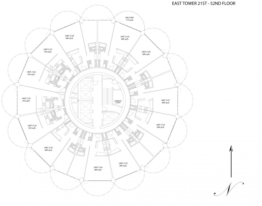 marina city_etower21-52-lg typical floor plan