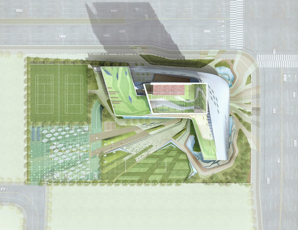 The Korea Teachers Pension Head Office / Tomoon Architects and Engineers site plan 01