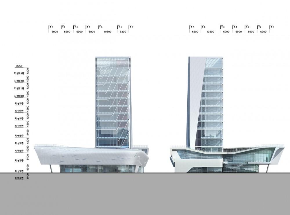The Korea Teachers Pension Head Office / Tomoon Architects and Engineers elevation 03