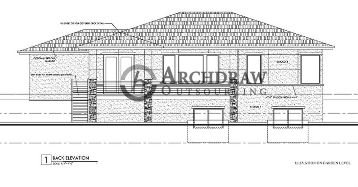 Residential Architectural CAD Drawing Drafting Project