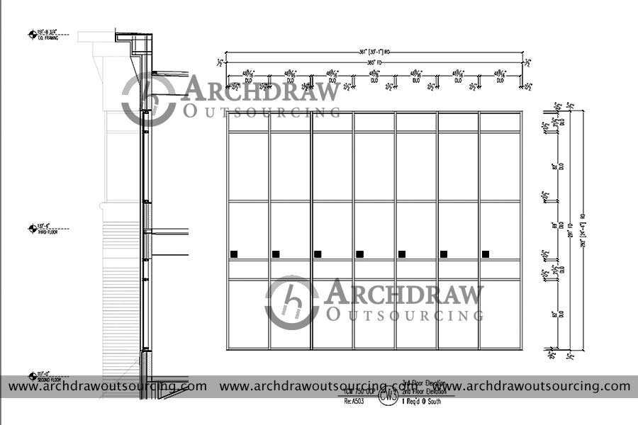 glazing shop drawing services