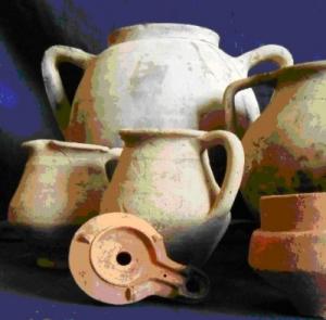 Materiali rinvenuti nel pozzo di Via Caselle