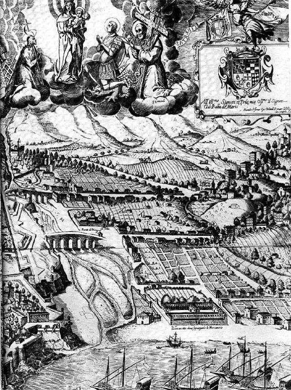 BARATTA Alessandro, 1637. La famosissima e nobilissima città di Genova con le sue fortificazioni.
