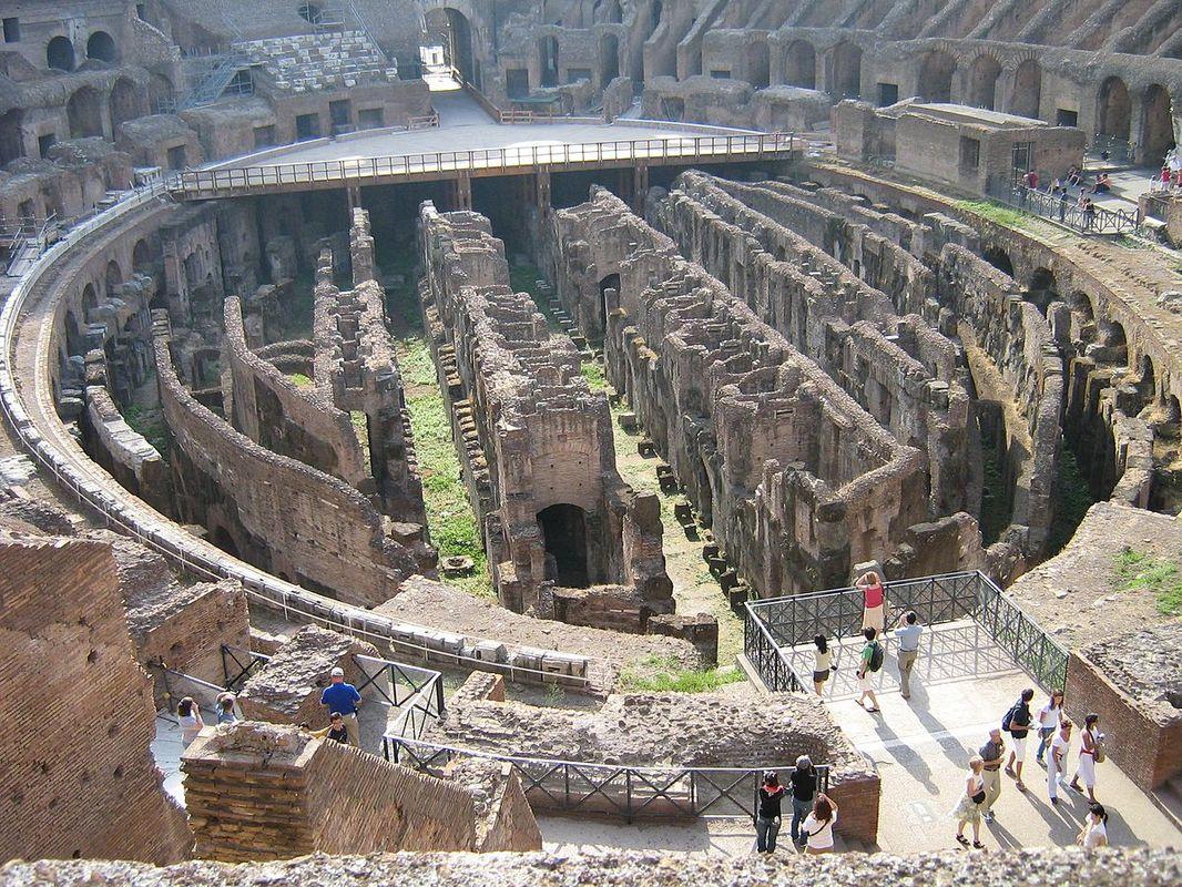 sotterranei del colosseo, patrimonio culturale