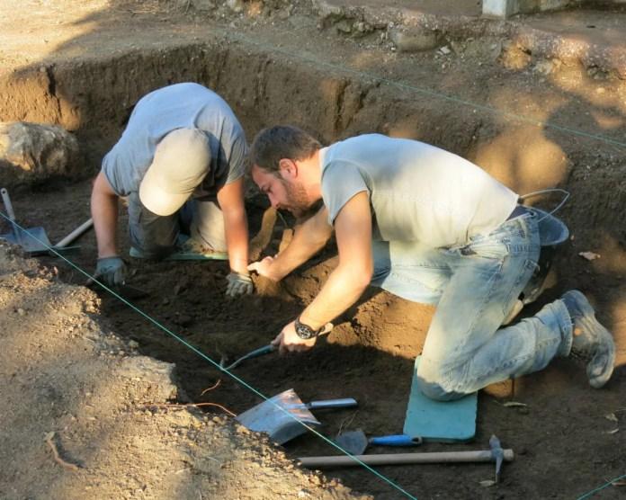 Ischia 2017 inizio dello scavo