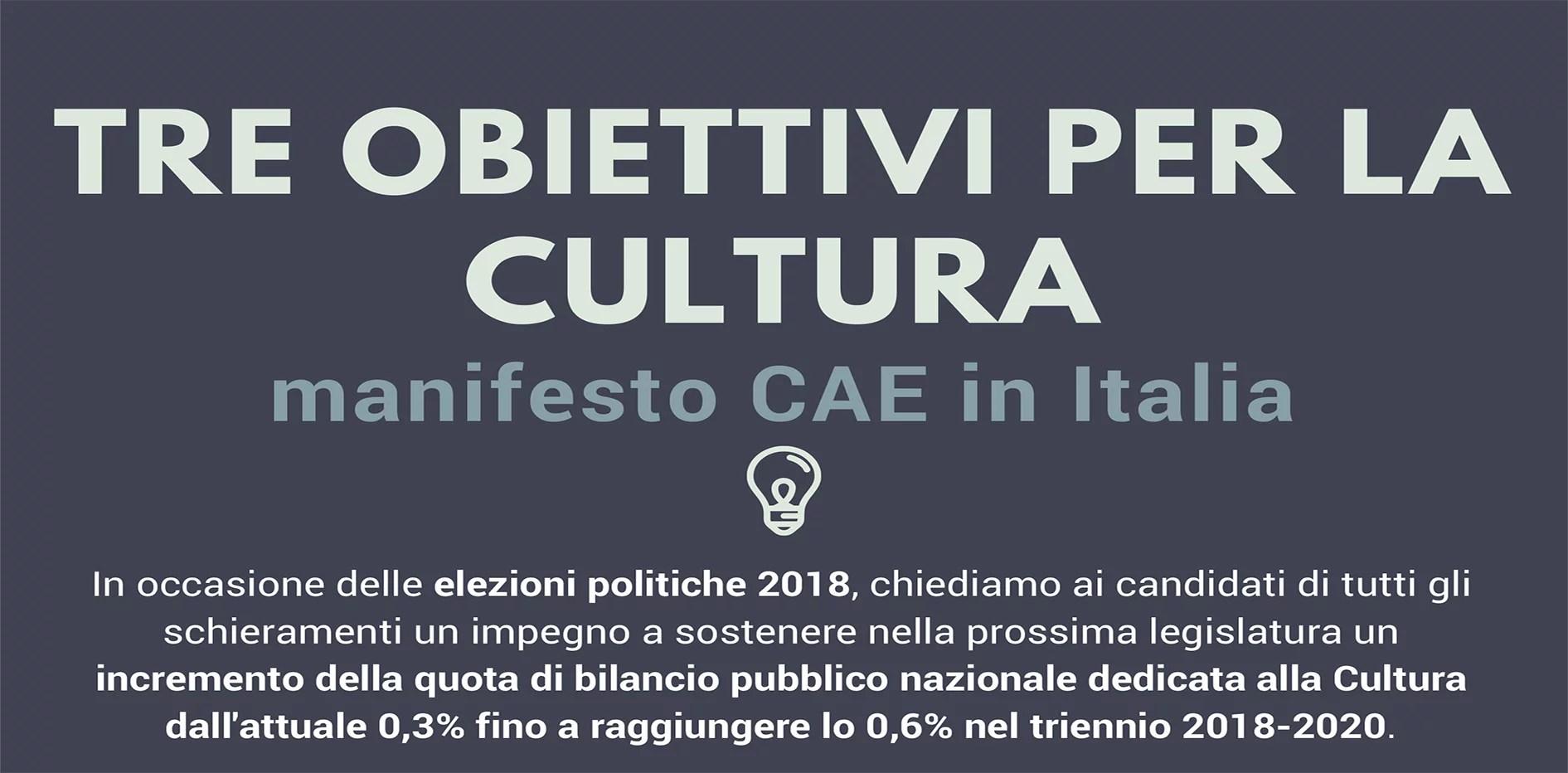 Tre obiettivi per la cultura