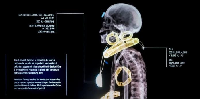 archeologia invisibile mummia Kha