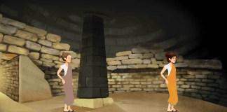TuoMuseo, Beyond our Lives - Screenshot dal videogioco interno di una tomba di Volterra