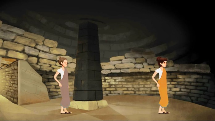 TuoMuseo, Beyond our Lives - Screenshot dal videogioco interno di una tomba di Volterra