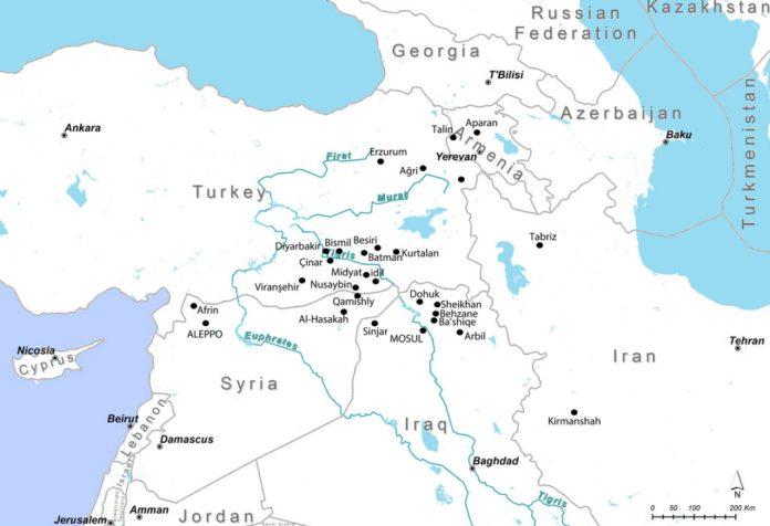 mappa yazidi