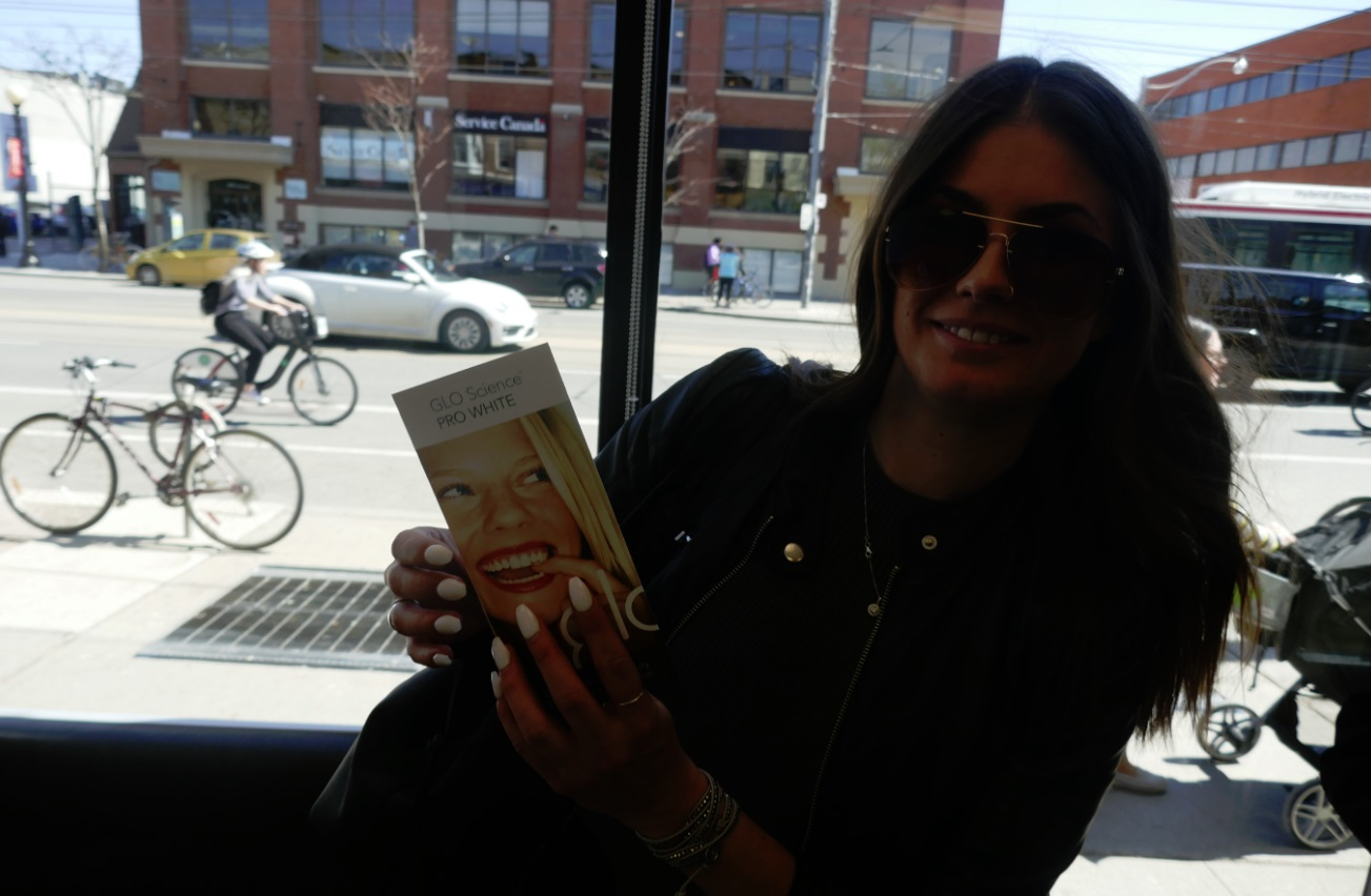 teeth whitening patient at Archer Dental Little italy - 564 College St in Toronto