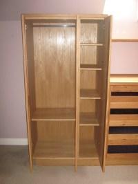 Oak wardrobes with mirror detail - James Archer Furniture