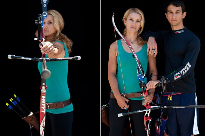 """Khatuna Lorig isn't """"just"""" an Olympic medalist, she's a mom - and shoots alongside her son, Levan, who hopes to make the Olympic Team, too."""