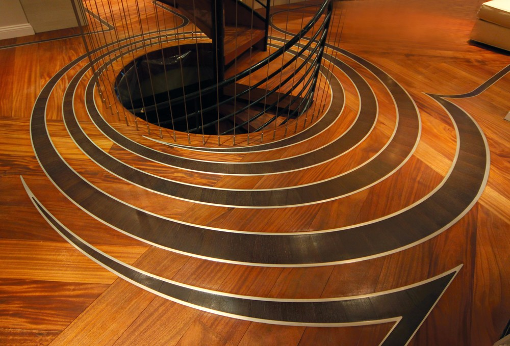 Curved Spiral Pattern  Archetypal Gallery Wood Floors