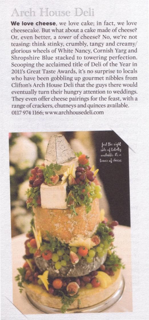 Arch House Deli Cheese Wedding Cakes Bristol