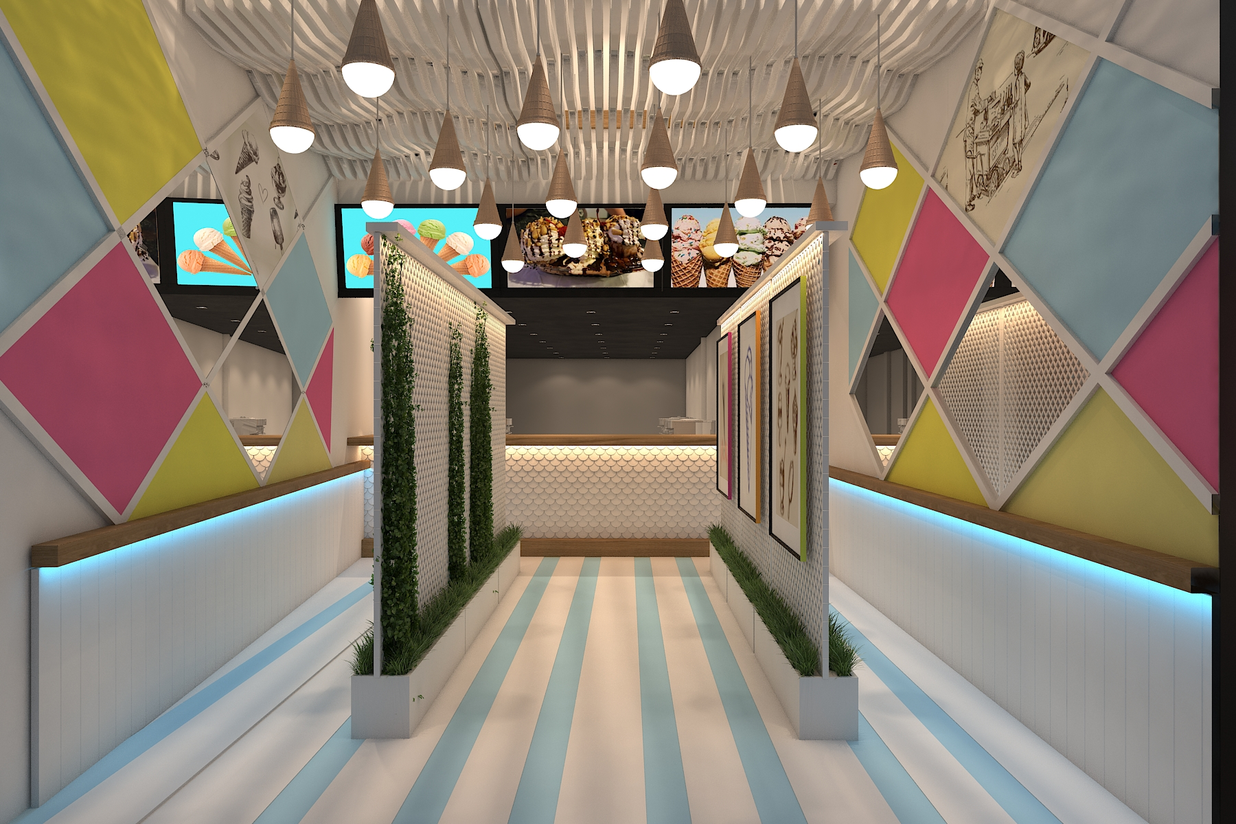 Waffles By Alamgir Main Market Lahore Interior Design Services