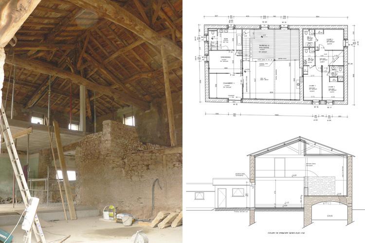plan maison plain pied 4 chambres 100m2