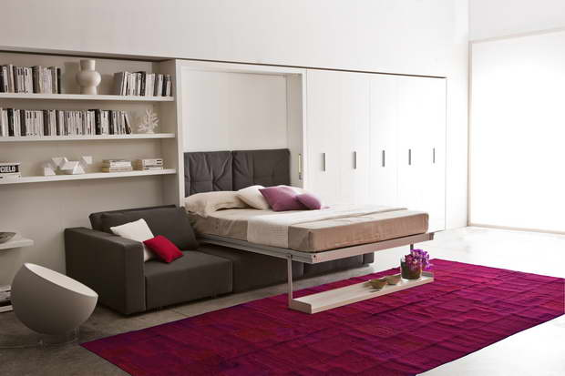 clei sofa bed schrankbett circe increase the living space with flexible multifunctional ...