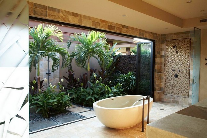 Tropical Bathroom Decor  Archilivingcom