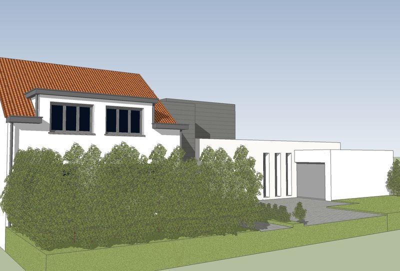 Extension contemporaine d 39 une maison 3 fa ades genval for Annexe maison moderne