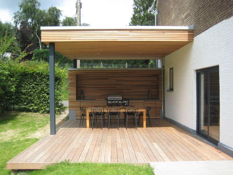 Terrasse couverte  VieuxGenappe  Herv Vanden Haute