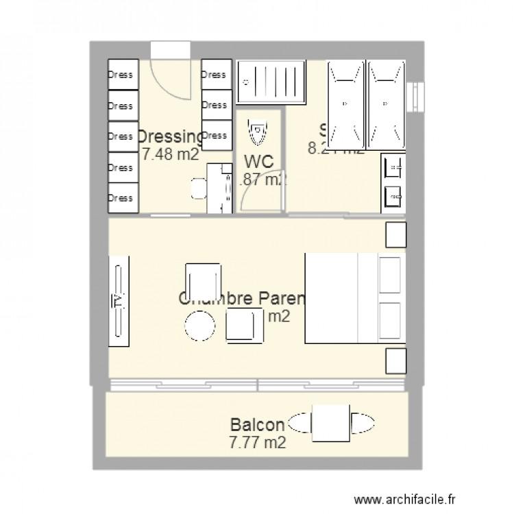 Plan maison plain pied 50m2 plan maisons l with plan for Plan maison 50m2