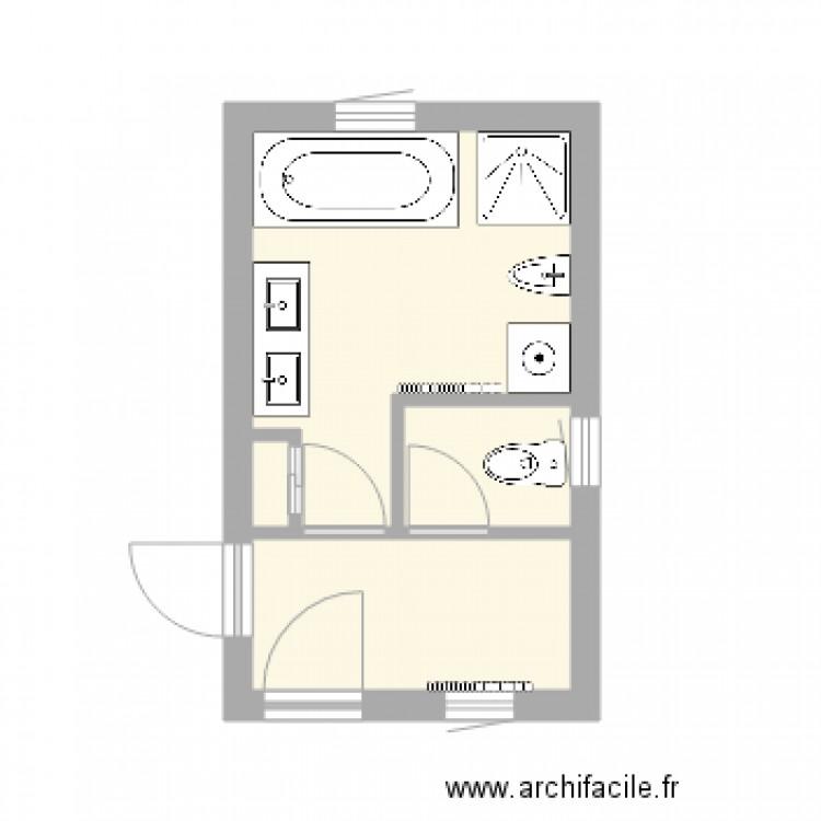 Salle De Bain Et Wc Appart Haut Avec Sanitaires Plan 3